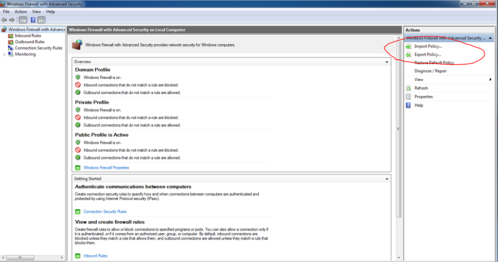 Export–Import Windows Firewall Setting using PowerShell