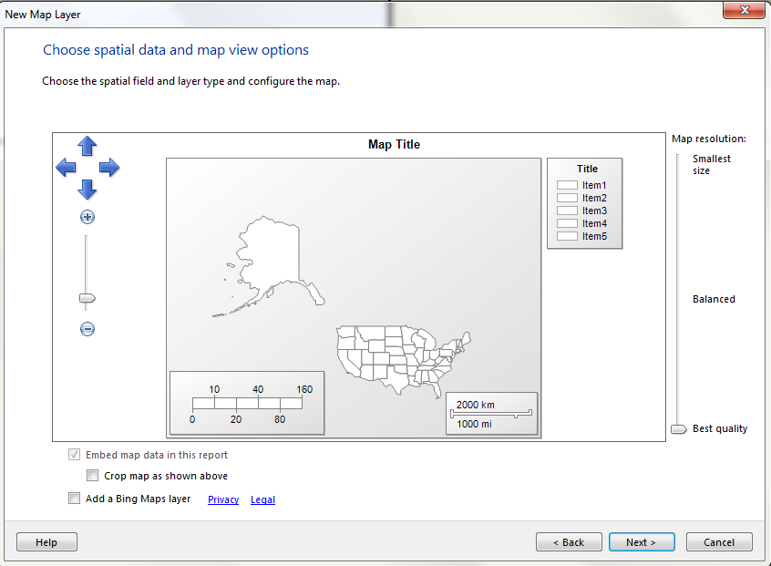 MAPS in SSRS