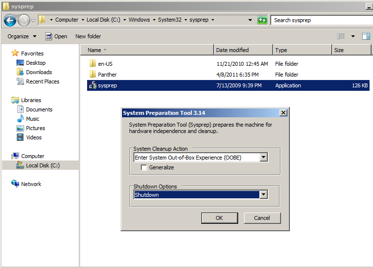 Use of SYSPREP to duplicate windows image with new SIDs
